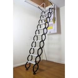 钛镁合金手动伸缩楼梯