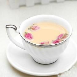 奶香玫瑰茶